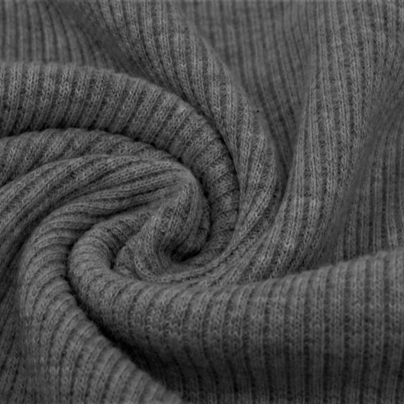 Ribjersey - Grau meliert