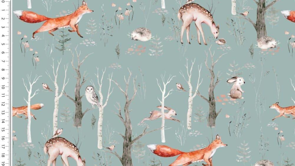 Jersey - Forest Animals - altgrün