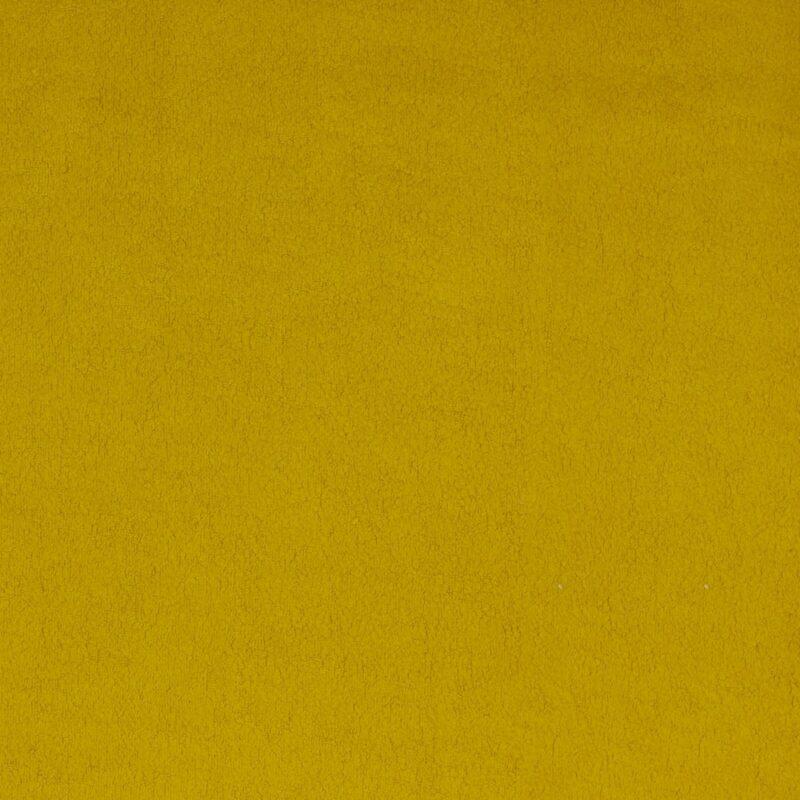Sherpa-Baumwollfleece - Senf