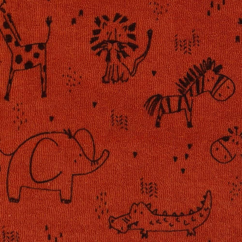 Frottee Jersey - Sweet Animals - Terra