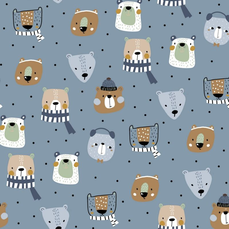 French Terry - Winter Animals