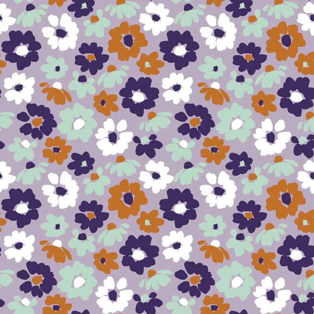 Bio-Jersey - Big Flowers - Lavendel