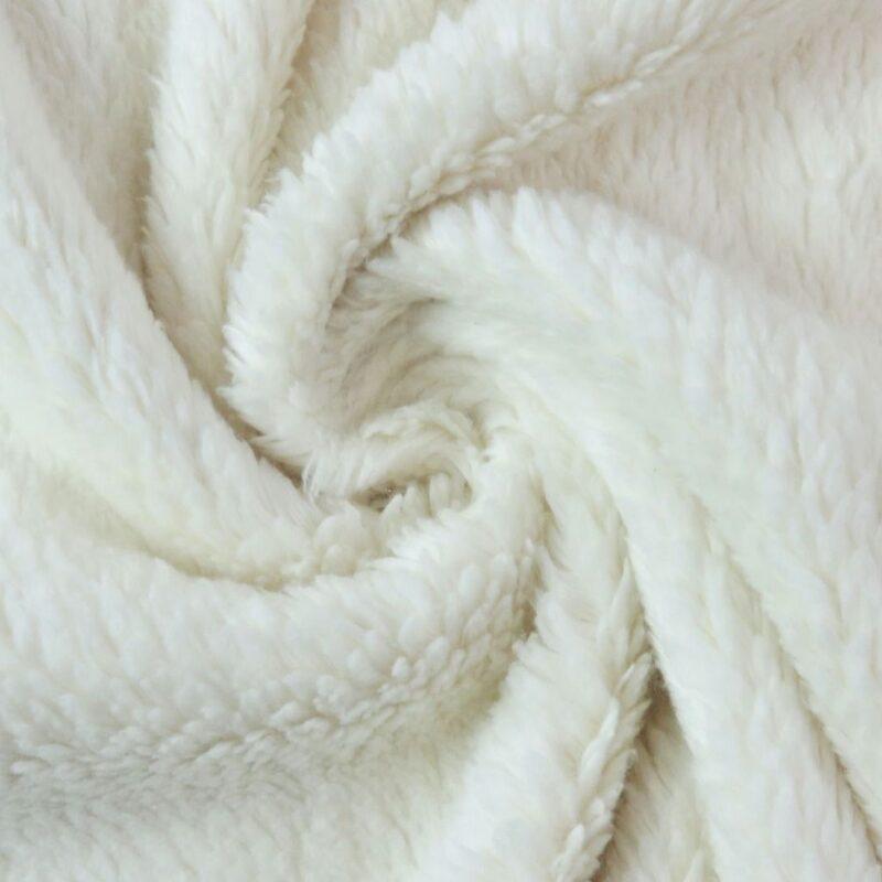 Baumwoll-Teddyfleece - Natur