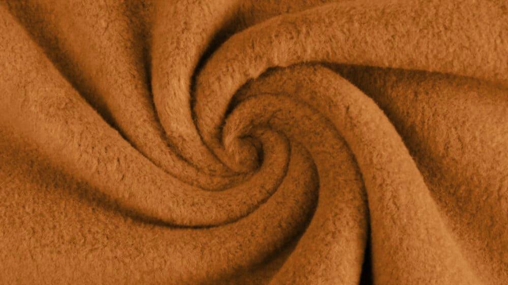 Baumwollfleece - Camel