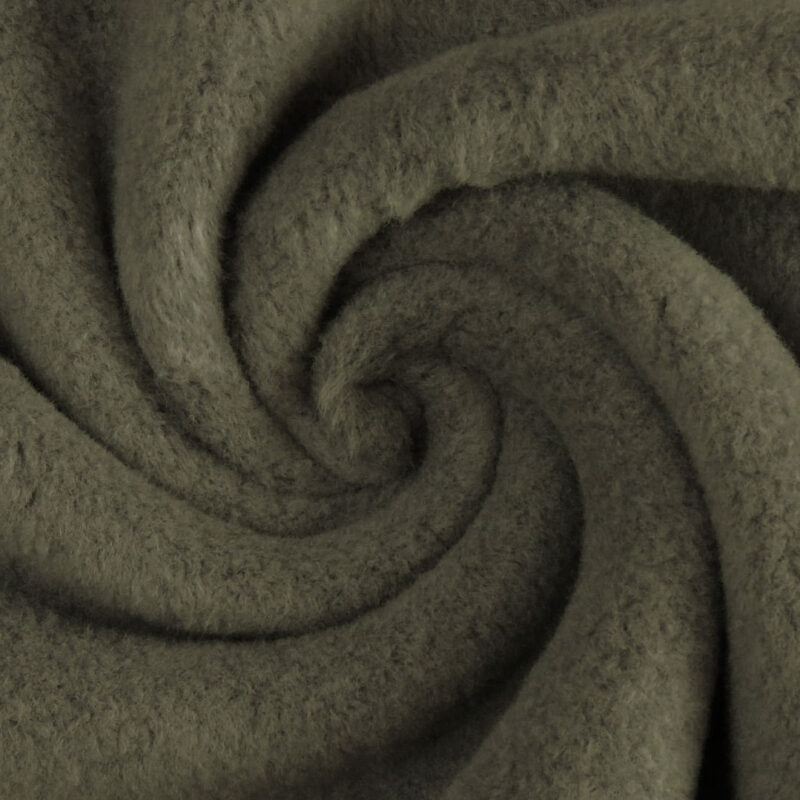 Baumwollfleece - Khaki