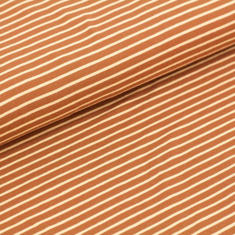 Bio-Jersey - Streifen karamell - Stoffonkel