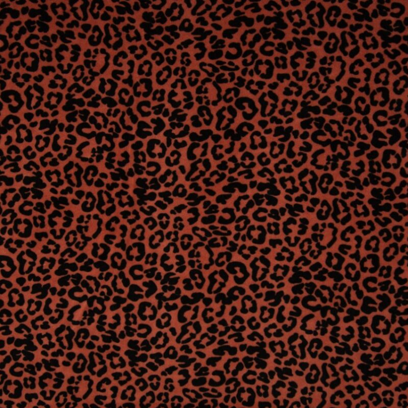 Bio-Nicki Stoff - Leopard - Terra