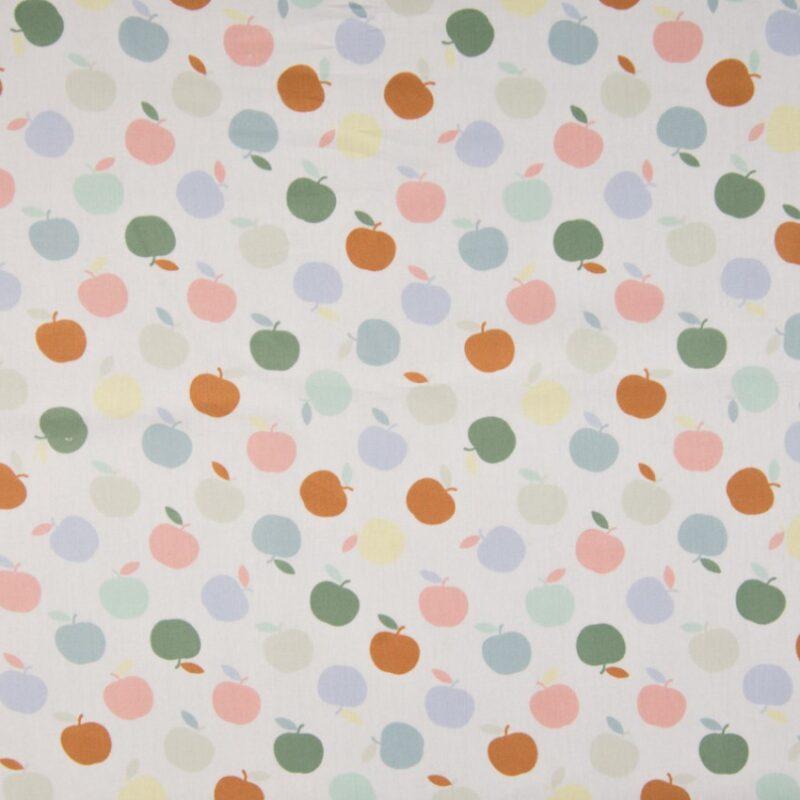 Bio Popeline - Äpfel