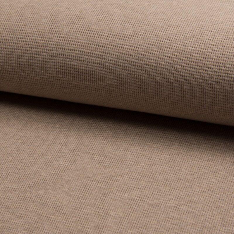 Waffelstrick Jersey - Beige meliert